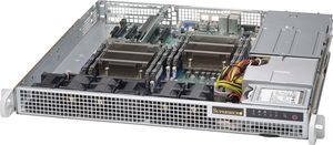 "SUPERMICRO mini1U chassis / 2x 2.5"" / 2x400W (Gold)"