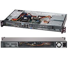 "SUPERMICRO mini1U chassis / 1x 3.5"" fixed HDD / 200W (Gold)"