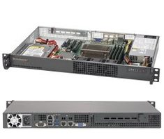 "SUPERMICRO mini1U server / 1x LGA1151 / iC232 / 4x DDR4 ECC / 1x 3.5"" Fix SATA / 200W / IPMI"