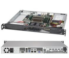 "SUPERMICRO mini1U server / 1x LGA1151 / iC236 / 4x DDR4 ECC / 2x 3.5"" Fix SATA / 350W / IPMI"