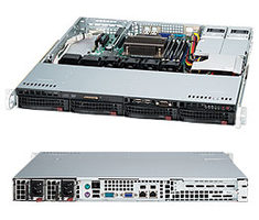 "SUPERMICRO SuperChassis SC813MFTQC-R407CB / 4 x 3.5"" SAS / SATA Hot-swappable / 400W / 1U chassis"