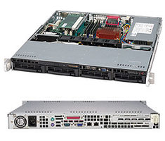"SUPERMICRO SuperChassis SC813MTQ-350CB / 4 x 3.5"" SAS / SATA Hot-swappable / 520W / 1U chassis"