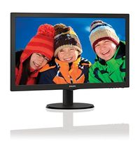 "21.5"" PHILIPS 223V5LSB / LED / 1920 x 1080 / TN / 16:9 / 5ms / 250cd-m2 /  VGA / DVI / Černá"