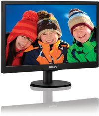 "19.5"" PHILIPS 203V5LSB26 / LED / 1600 x 900 / TN / 16:9 / 5ms / 600:1 / 200cd/m2 / VGA / Černý"
