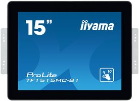 "15"" IIYAMA ProLite TF1515MC-B1 / TN / 1024 x 768 / 4:3 / 8 ms / 350cd / 800:1 / VGA+HDMI+DP"