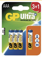 GP AAA Ultra Plus - 3+1 ks / alkalická