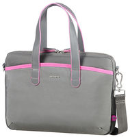 "Samsonite Nefti BAILHANDLE 13.3"" Rock Grey Fuchsia / Dámská taška na notebook"