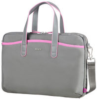 "Samsonite Nefti BAILHANDLE 15.6"" Rock Grey Fuchsia / Dámská taška na notebook"