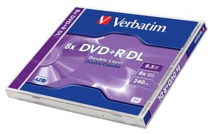 Verbatim DVD+R DoubleLayer 8.5GB 1ks / 8x / jewel