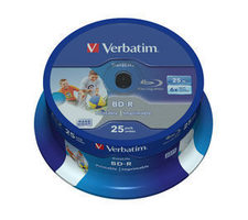 Verbatim BD-R SL Datalife 25GB 25ks / 6x / Wide Printable / Spindle