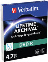 Verbatim M-DISC DVD-R 4.7GB 3ks / 4x / MATT SILVER slim