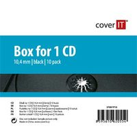 COVER IT 1 CD 10mm jewel box + tray 10ks