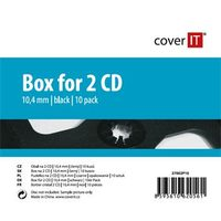 COVER IT 2 CD 10mm jewel box + tray 10ks