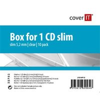 COVER IT 1 CD 5.2mm slim box + tray čirý 10ks