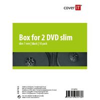 COVER IT 2 DVD 7mm slim černý 10ks