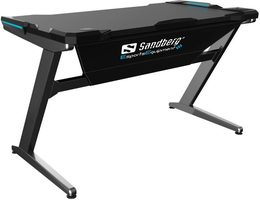 Sandberg Fighter Gaming Desk - herní stůl šedá / D:120cm / Š: 66cm / V: 73cm