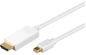 MicroConnect Mini DP 1.2 - HDMI Kabel M-M / 1m / 1920x1080 / bílá