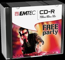 EMTEC CD-R Classic / 700MB / 52x / Slim case 10 ks