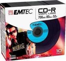EMTEC CD-R Vinyl Look / 700MB / 52x / Slim case 10 ks