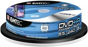 EMTEC DVD+R DL 8.5GB 10ks / 8x / Cake