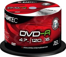 EMTEC DVD-R 4.7 GB 50ks / 16x / Cake shrink