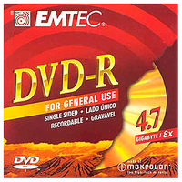 EMTEC DVD+R 4.7GB / Data + Video / 8x / Slim Case