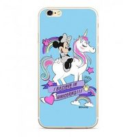 Disney Minnie 035 Back Cover pro Apple iPhone 5 & 5S & SE modrá / výprodej