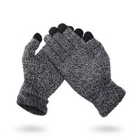 TOUCH GLOVES WOOL WINTER rukavice šedá
