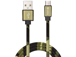 Sandberg MicroUSB Green Camouflage kabel 1m / USB-A > MicroUSB