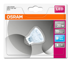 OSRAM LED STAR MR11 36° 12V 2.5W 840 GU4 / 184lm / 4000K / 15000h / noDIM / A+ / Sklo / 1ks