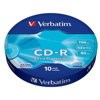 VERBATIM CD-R 700MB 52x / 10 kusů / Extra Protection