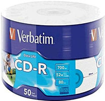 VERBATIM CD-R 700 MB 52x 50 kusů / spindl