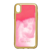 GUESS Glow in The Dark PC TPU Kryt pro Apple iPhone XR zlatá-růžová