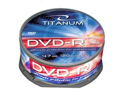 Titanum 1070 DVD-R / 4.7 GB / 8x / 25ks cake box