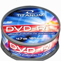 Titanum 1280 DVD-R / 4.7 GB / 16x / 25ks cake box