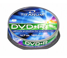 Titanum 1288 DVD+R / 4.7 GB / 16x / 10ks cake box