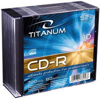 Titanum 2028 CD-R / 700MB / 52x / 10ks slim jewel case