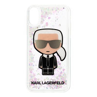 Karl Lagerfeld Iridescente Glitter Liquid Case pro Apple iPhone X & XS