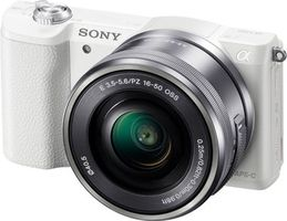 "SONY A5100L + 16-50mm / 24,3 Mpix / CMOS Exmor / FullHD video / 3"" LCD / bílý"