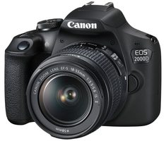 Canon EOS 2000D + EF-S 18-55mm IS + LP-E10 / 24 MPix / CMOS / Wi-Fi