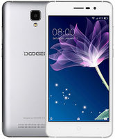 "DOOGEE X10 8GB stříbrná / 5"" /  D-C 1.3GHz / 0.5GB / 8GB / 5MP+2MP / Android 6.0"