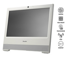 "Shuttle X50V4-W / 15.6"" Touchscreen All-in-One PC / Intel Celeron 2957U 1.4GHz / 1x slot DDR3 / Kamera / bílá"
