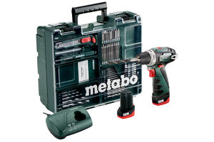 Metabo PowerMaxx BS Basic / Aku Šroubovák / 10.8V / 2x 2.0Ah / Li-Ion / 10mm sklíčidlo / 1400 ot-min / 34Nm
