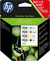 HP C2N92AE Ink Cart No.920XL, CMYK, (CD972AE-75)