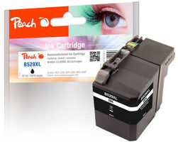 Peach remanufactured alternativní cartridge LC-529XL černá / 57 ml / chip reset