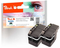 Peach remanufactured alternativní cartridge LC-529XL TwinPack černá / 2x 57 ml / chip reset