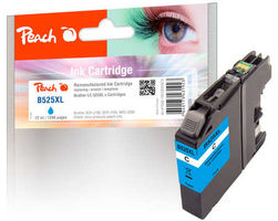 Peach remanufactured alternativní cartridge LC-525XL modrá / 12 ml / chip reset