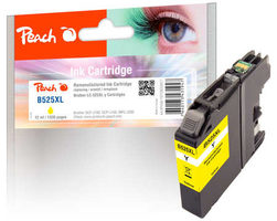 Peach remanufactured alternativní cartridge LC-525XL žlutá / 12 ml / chip reset