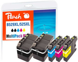 Peach remanufactured alternativní cartridge LC-529XL+LC-525XL MultiPack Plus / 2x57+3x12 ml / chip reset