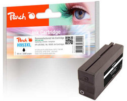 Peach remanufactured alternativní cartridge HP 953XL (L0S70AE) černá / 59 ml / new chip